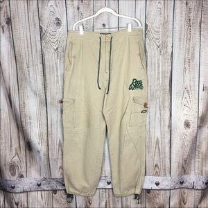 VTG Rocawear Khaki Cargo Carpenter Pants Large